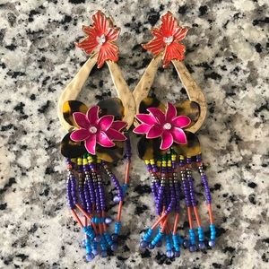 Zara Colorful Floral Earrings